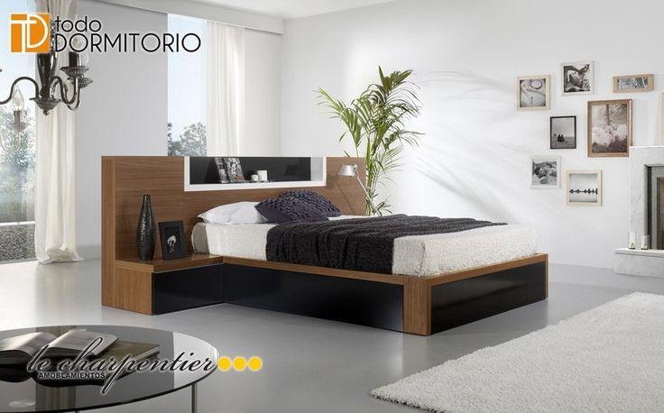 Cama respaldar domitorio sommier moderno lecharpentier for Casa y cama