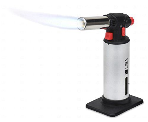 Culinary Torch – Creme Brulee Torch – Kitchen Torch – Best Creme Brulee Torch – Food Torch – Cooking Torch – Cooking Blow Torch – Brulee Torch – Butane Torch For Cooking – Blow Torch (Silver)  Envision yourself creating amazing foods and desserts on par with the finest restaurants in the world? You are one step closer by using our Professional Culinary Torch. Made for reliability, safety and ease of use, the LiBa Culinary Torch brings the Professional's experience to your own home ki..