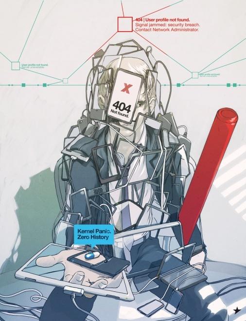 """Full page illustration for La repubblica XL. """"Zero History"""" by William Gibson."""