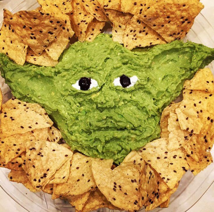Yoda guacamole = yodamole Star Wars Christmas party hit!