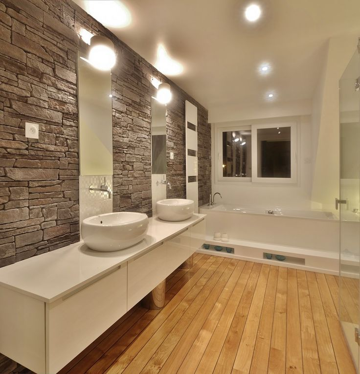 Maison renovation luxe vasques selles parquet pont de - Idee renovation salle de bain ...