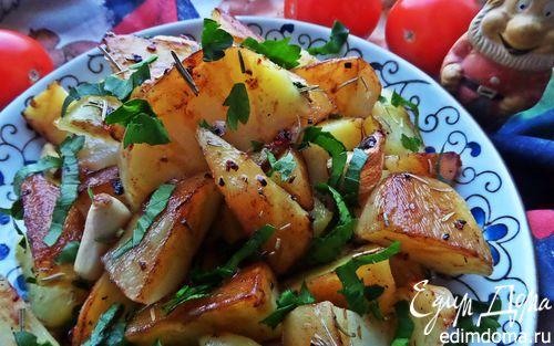 Картофель с чесноком от Джейми Оливера | Кулинарные рецепты от «Едим дома!»