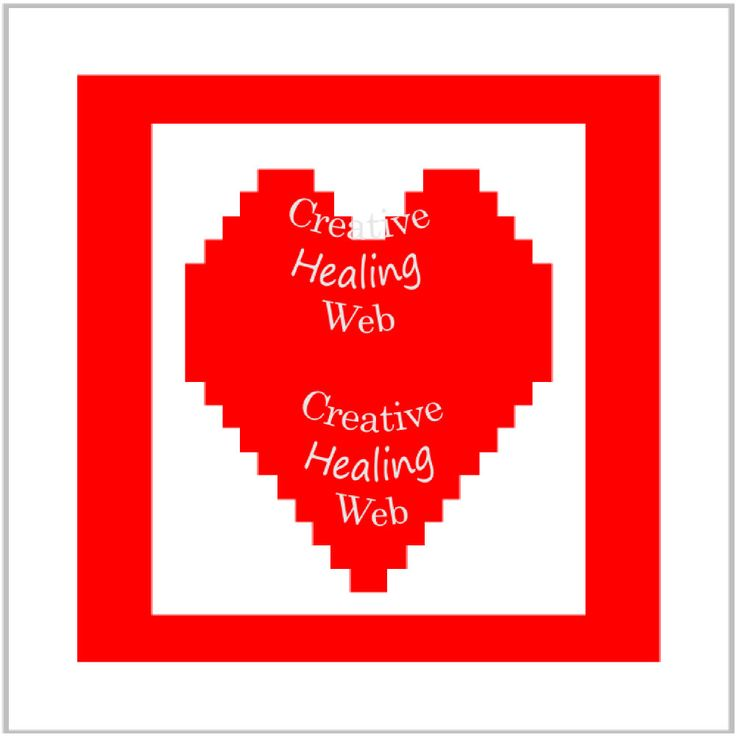 Red heart graph pattern to make knitted squares for a blanket. Knitting pattern by CreativeHealingWeb on Etsy