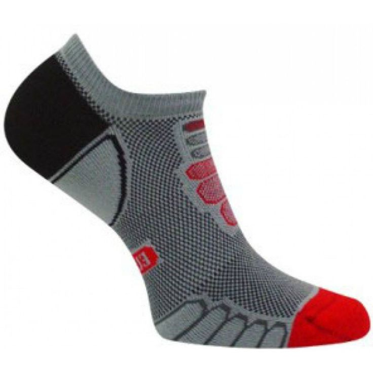 Eurosocks Sprint Silver Sock, Grey/Red, X-Large. RUNNING SOCKS - Ultra-light weight running socks, engineered to embrace the foot ensuring a snug fit, eliminating wrinkles, hot spots or pressure points, second skin fit and feel. PERFORMANCE PROTECTION - Low density padding and seamless toe pocket creates high performance protection, relieves foot stress, eliminates abrasions providing athletes support, circulation and comfort. FUNDAMENTAL QUALITIES- Running socks, exclusive design for...