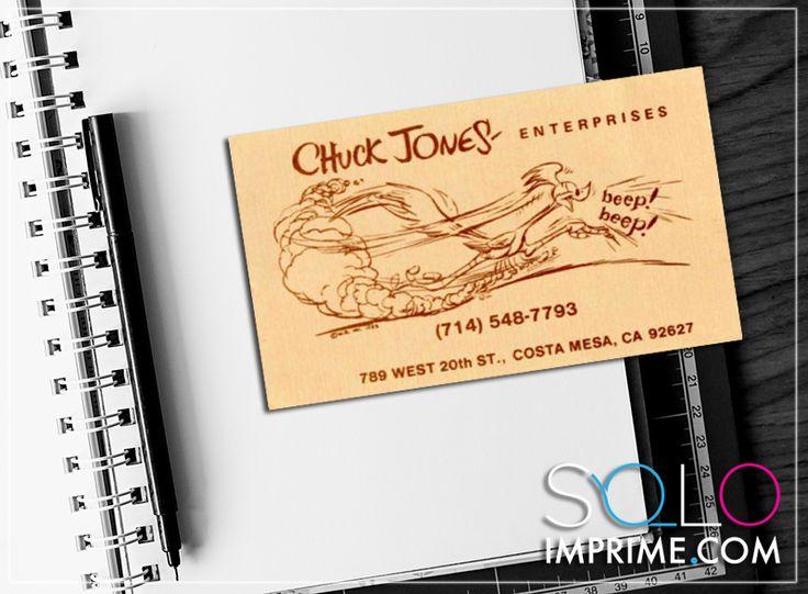 Tarjeta de Presentación, Originales, famosos, Business Card, Chuck Jones