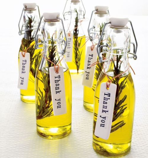 DIY Rosemary infused olive oil favors. Photo by Nato Welton, styling by Polly Atkinson.