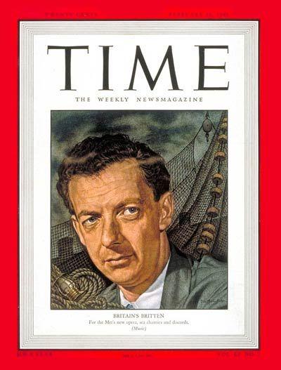 TIME Magazine Cover: Benjamin Britten - Feb. 16, 1948