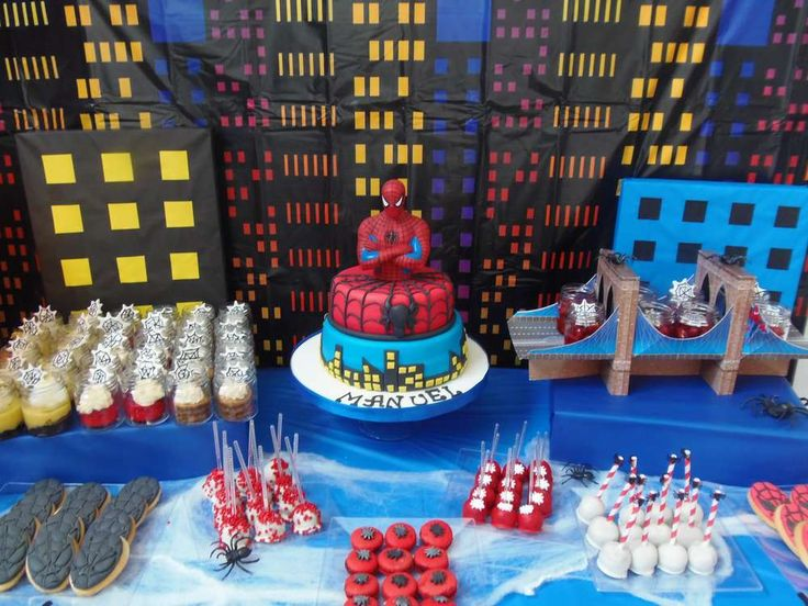 196 best Spiderman Party images on Pinterest Birthday party