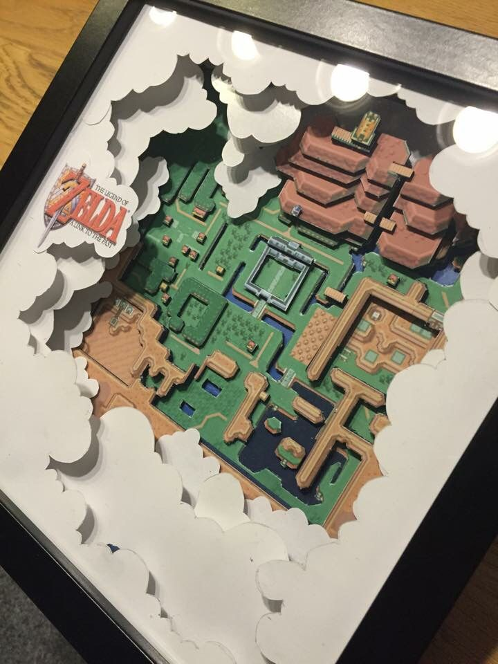 Zelda | 3D Paper Dioramas by Daniel Kayser
