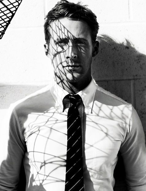 michelozzo:  Gosling wearing button down white custom dress shirt - custom dress shirts