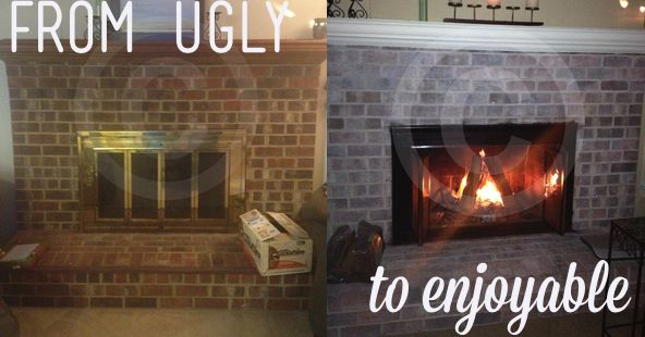 17 Best Images About Ugly Brick Fireplace On Pinterest