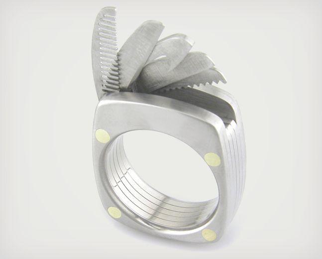 Titanium Utility Ring   Cool Material
