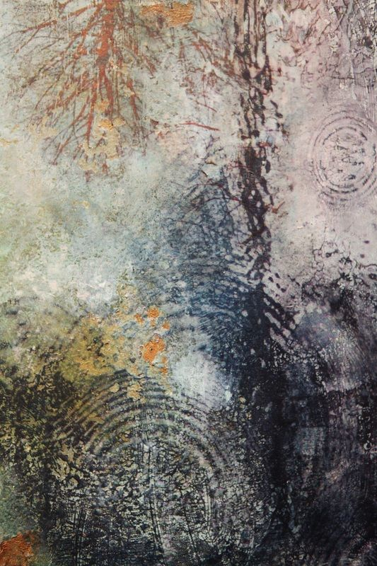 Another from the Terrenaquea series (detail) Mixed Media by Julie Shackson