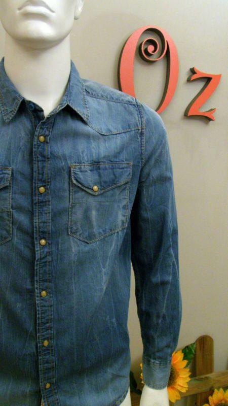 Camisa hombre vaquera Fuga (talla M) -Nueva y Original- Oz moda Outlet