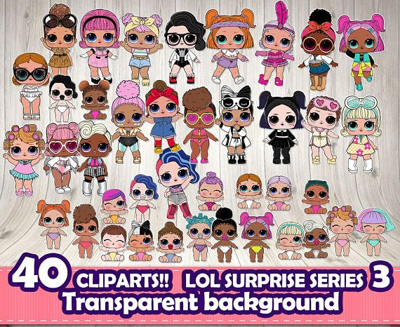 INSTANT DOWNLOAD LOL SURPRISE CLIPART! They are perfect for Scrapbooking! CONTENTS 40 Cliparts (transparent background) You will receive : 1 ZIP included with 40cliparts in PNG format with transparent background. As soon as your payment is confirmed, a link be able to access your files on