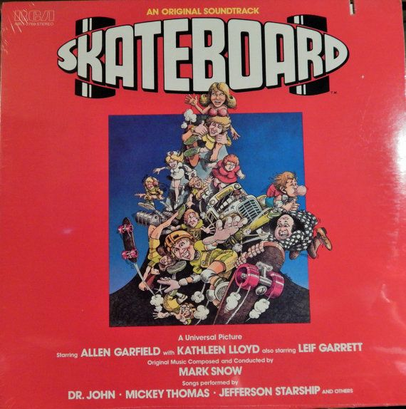 "Skateboard (1978 music Mark Snow; performers Dr John, Jefferson Starship, Mickey Thomas, Roger Jaep, Taro Meyer)Mint 12"" Vinyl LP Soundtrack"