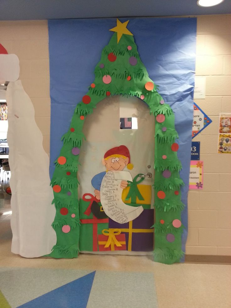 Christmas Decoration For Preschool Classroom ~ Best door wall decoration school images on pinterest