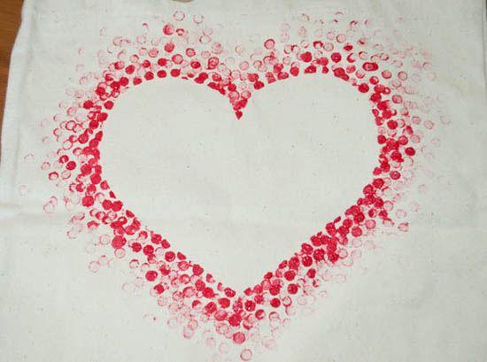 Urob si sama Motiv srdca na platenej taske 2