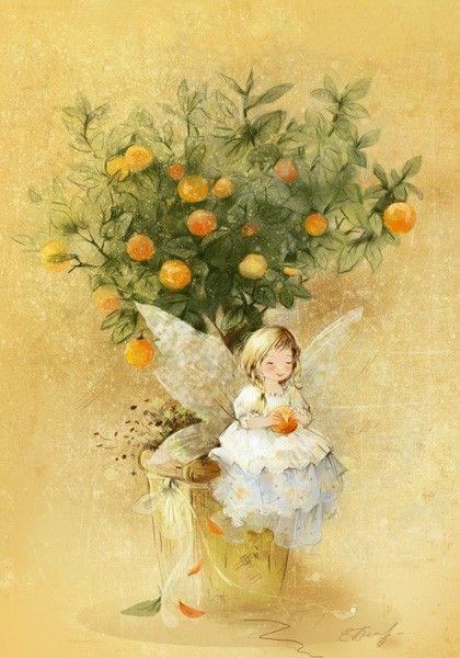 Екатерина Бабок - Lovelycards. Если у вас дома есть мандариновое дерево, то...ждите гостей)