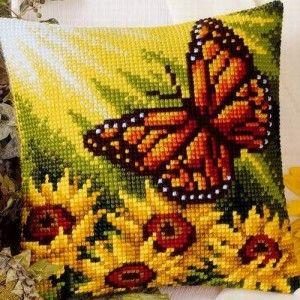 Autumn Butterfly - kruissteekkussen