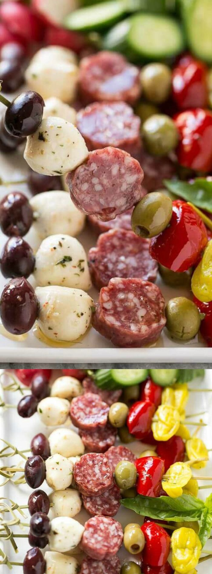 These easy to make Antipasto Skewers from Dinner at the Zoo are an appetizer that will impress your friends and family for sure!