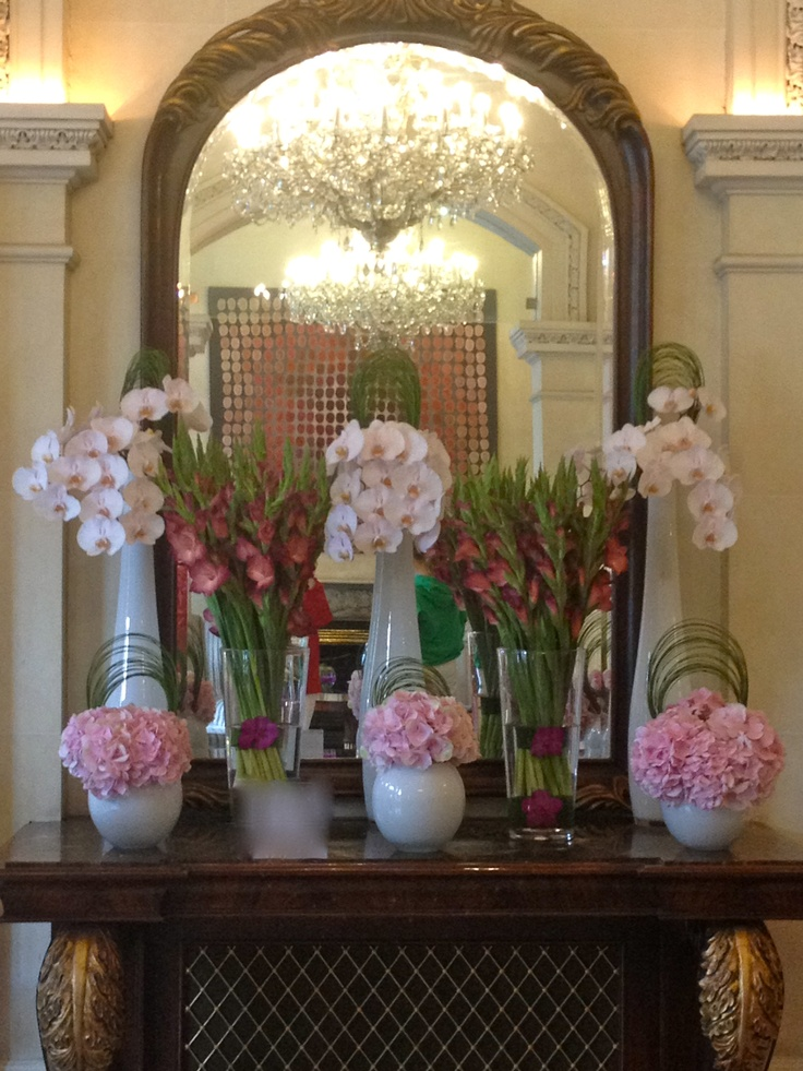 Shelbourn Hotel Dublin - more flowers in the lobby!  They never disappoint with the fresh flowers.  This hotel is absolutely gorgeous!
