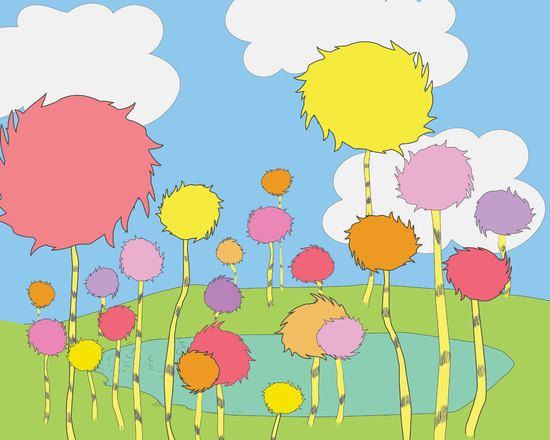 truffula trees the lorax dr seuss instant download