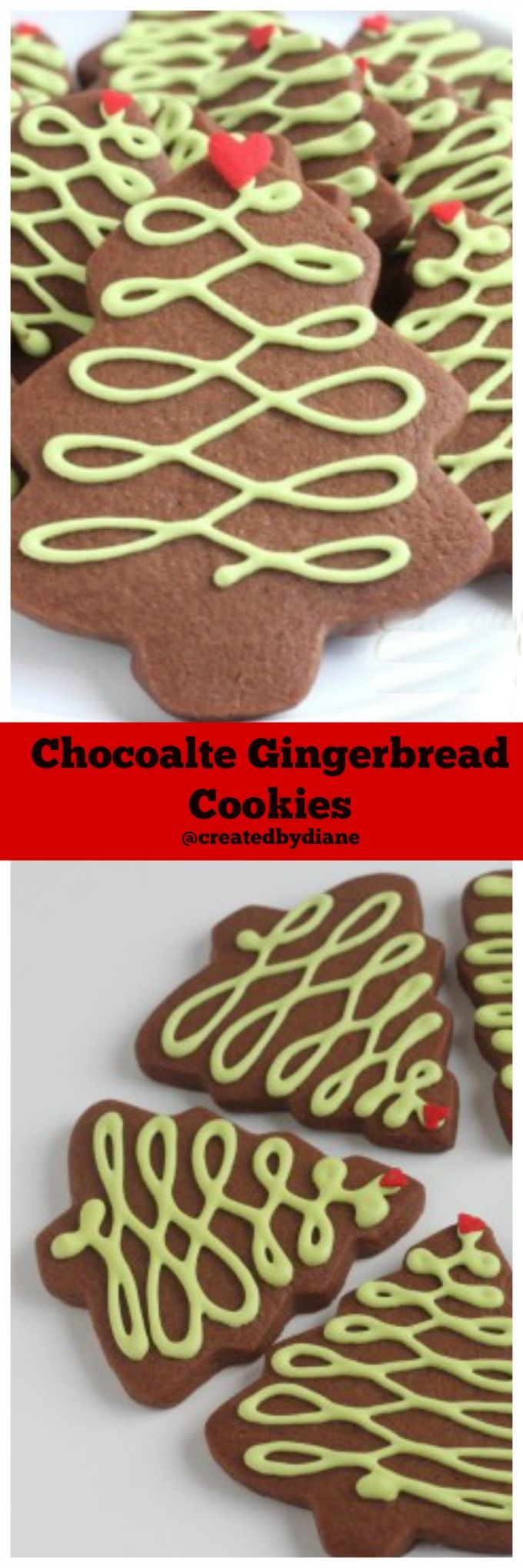 chocolate gingerbread cookies @createdbydiane