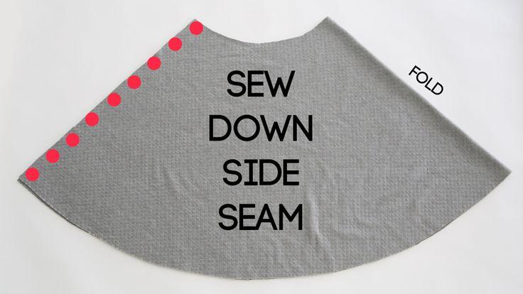 Facile cucitura di gonna con cuciture a semicerchio - senza cerniere, nessun bottone, solo una gonna carina e facile!  Come cucire una gonna a mezza circonferenza.