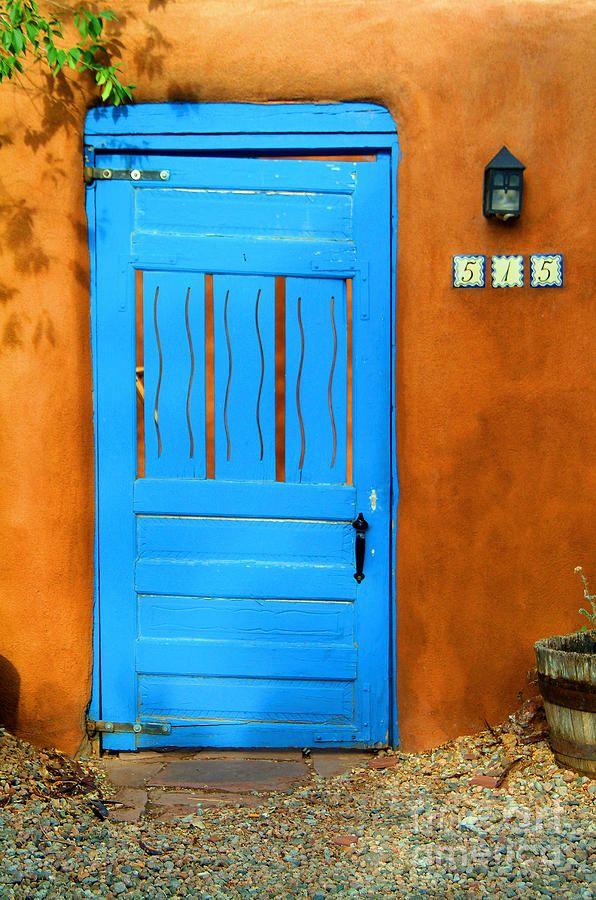 Blue Door in Santa Fe, New Mexico  Santa Fe Blue to ward off evil spirits!