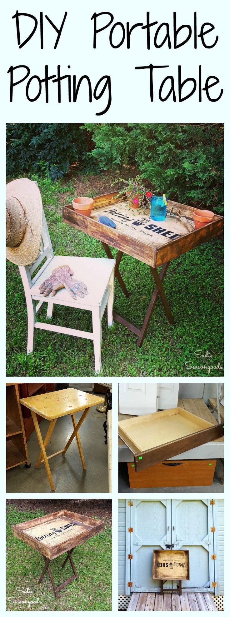 DIY Portable Potting Bench for Small Living