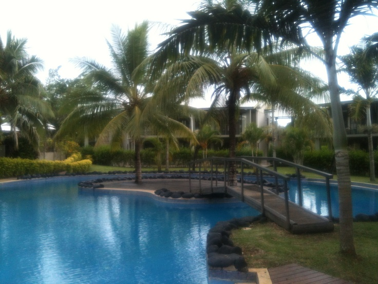 The main pool on Iririki Island...