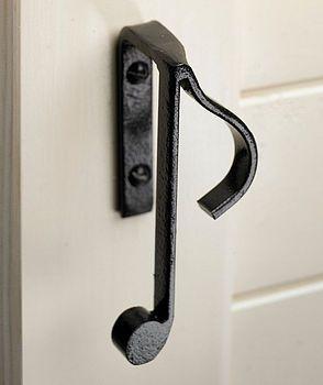 Music note door handle.