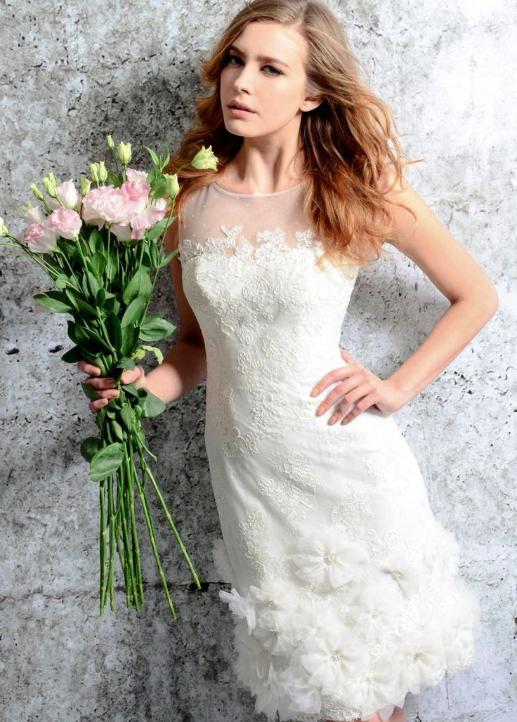 Vestido+de+novia+Con+velo+Fuera+de+casa+Joya+Espalda+con+ojo+de+cerradura