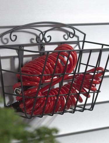 Coiled garden hose basket from Gardener's Supply Co.