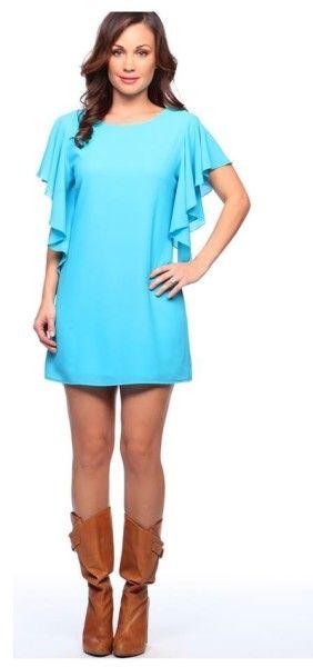 Basically me ruffled sleeve dress www.shopchiqueboutique.com