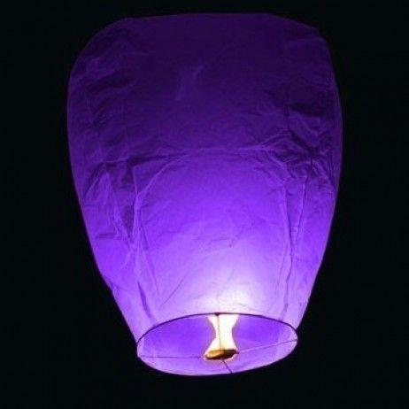 Lanterne Thailandaise mariage Violet