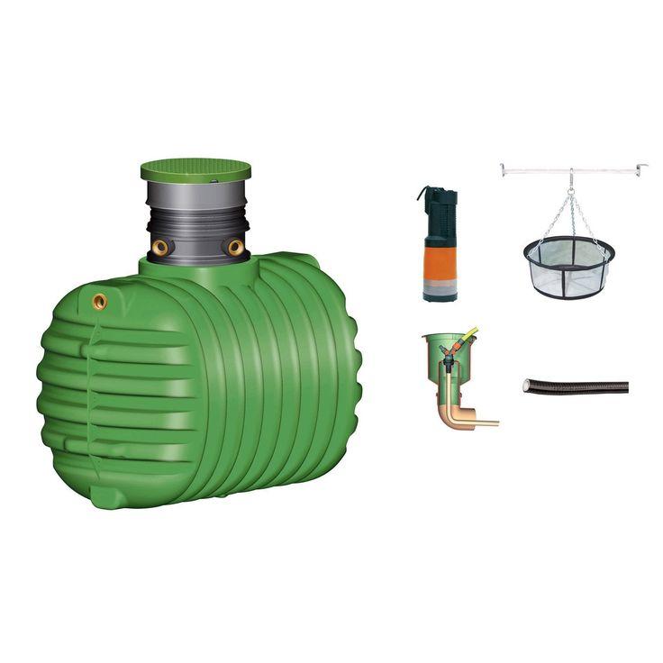 Cuve + accessoires récupération eau de pluie à enterrer Cristall GARANTIA, 26…