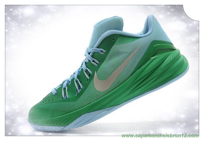 Apple Verde /Prata University Nike Hyperdunk 2014 Low 706505-067 site de compra de tenis