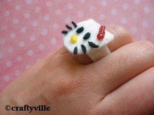 hello kitty ring craft