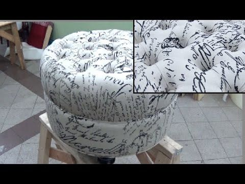HOW TO REUPHOLSTER A CHAIR SEAT - ALOWORLD - YouTube