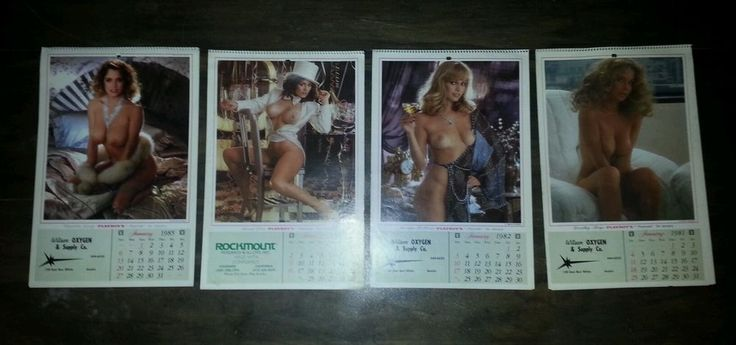 Playboy Playmates vintage calenders lot of 4 1981 '82 '83 '85 Great Condition in 1980-Last Year   eBay