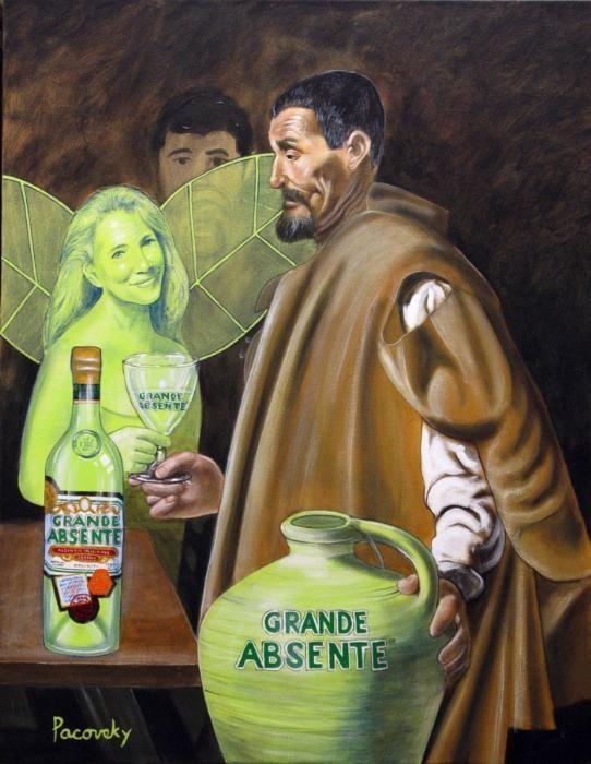 Grande Absente Absinthe Originale art- Homage a Velazquez- by John Pacovsky