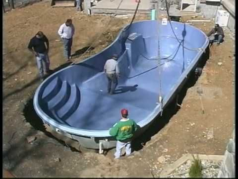 fiberglass swimming pools - YouTube
