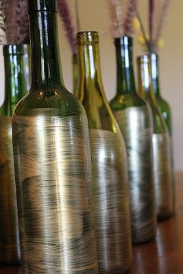 { fall wine bottle decoration }