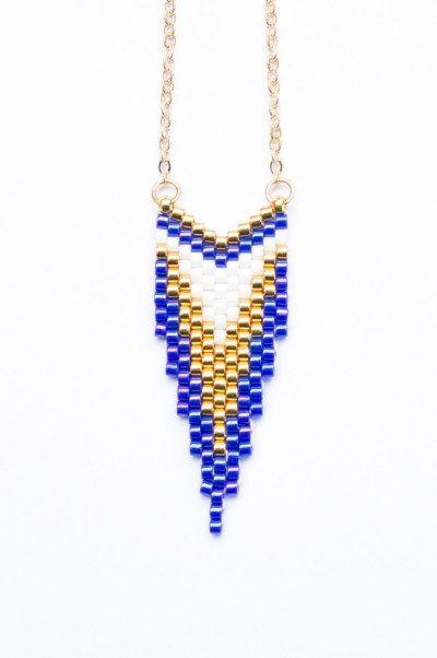 Création Artistic Bracelet - Sautoir CLEO Indigo et Or