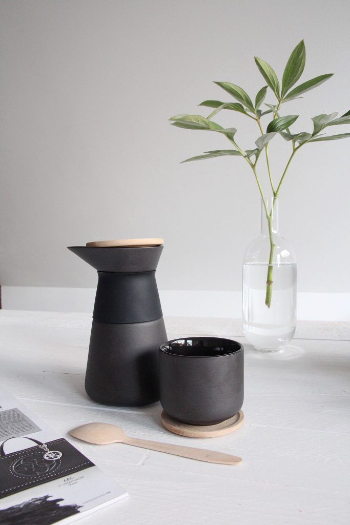 Stelton Theo Coffee Can black