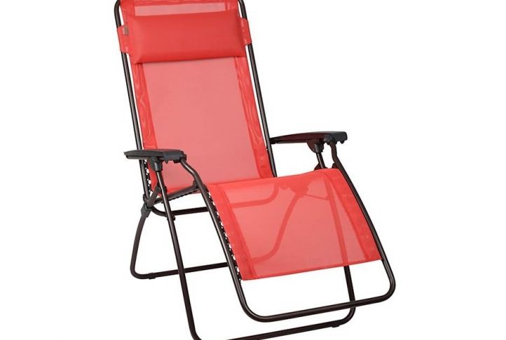 Lafuma Folding Garden Chair With Pillow | Absolute Home