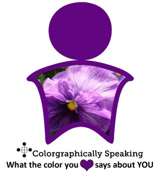 Spiritual, intuitive, maybe a little mysterious. Those are common 'purple people' qualities. Click for more my favorite color is purple meaning.