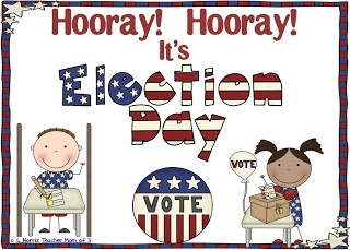 Election Day packet for kindergarten and first grade with a printable book!: